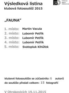 výsledková listina FAUNA .cdr